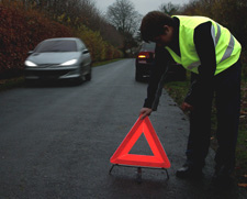 Motoring LAW in France and many other European Countries now requires all vehicles to carry a Warning Triangle and a Reflective Vest.